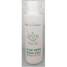 Alma de Canarias - Zumo de Aloe Vera Fresh Pulp 99,7% 1000ml Flasche hergestellt auf Lanzarote - LAGERWARE