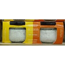 Las Salinas Pozo Izquierdo - Sal Marinas Artesanal Escamas De Sal Marina und Sal Fina Bio Salz 2x75g Glas hergestellt auf Gran Canaria