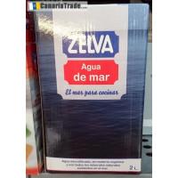 Zelva - Agua de mar Sal Salz 2l Karton hergestellt auf Teneriffa