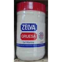 Zelva - Sal Marina Gruesa Salz Flasche 1,5kg hergestellt auf Teneriffa