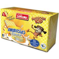 Bandama - Ambrosias Snacks Ambrosia Kids Sabor Limon Waffeln mit Zitronencreme 8 Stück 224g hergestellt auf Gran Canaria - LAGERWARE