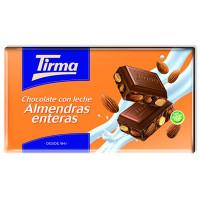 Tirma - Chocolate con Leche Almendras enteras Nussschokolade 150g hergestellt auf Gran Canaria