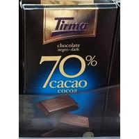 Tirma - Chocolate 70% Cacao dunkle Schokolade 210g hergestellt auf Gran Canaria