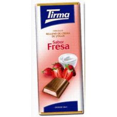 Tirma - Chocolate Sabor Fresa Milchschokolade Erdbeercremefüllung 95g hergestellt auf Gran Canaria