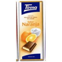 Tirma - Chocolate Sabor Naranja Vollmilchschokolade Orangencremefüllung 95g hergestellt auf Gran Canaria