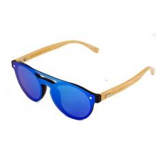 Canarians - Gafa El Hierro Bambú azul Bambus-Sonnenbrille blau