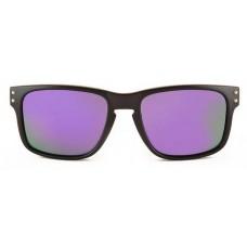 Canarians - Gafa Fuerteventura Bambú Negro Mate violeta Bambus-Sonnenbrille violett