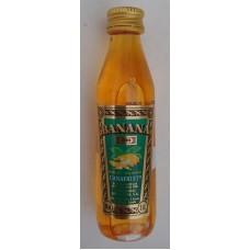 Arehucas - Banana Canafruit Liquer Bananenlikör 20% Vol. 50ml PET-Miniaturflasche hergestellt auf Gran Canaria