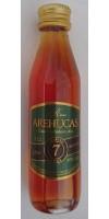 Arehucas - Ron Arehucas 7 anos 40% Vol. 50ml PET-Miniaturflasche hergestellt auf Gran Canaria - LAGERWARE