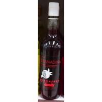 Artemi - Dundy Licor de Granadina sin alcohol Granatapfel-Likör alkoholfrei 1l hergestellt auf Gran Canaria