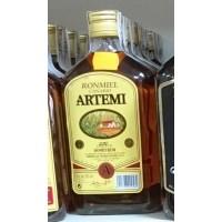 Artemi - Ronmiel Canario Ron Miel Honigrum 20% Vol. 350ml runde PET-Flasche hergestellt auf Gran Canaria