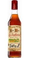 Ron La Indiana - Ron Miel Honey & Rum Honigrum Licor Islas Canarias 1l 37,5% Vol. hergestellt auf Gran Canaria - LAGERWARE