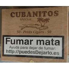 Cubanitos - Special 50 Petits Cigars Zigarillos in Holzschatulle hergestellt auf Teneriffa
