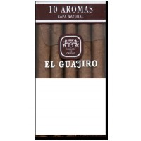 El Guajiro - 10 Aromas Capa Natural Zigarillos Pappschachtel hergestellt auf Teneriffa