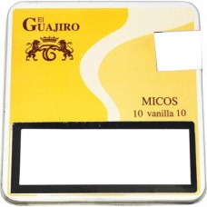 El Guajiro - Micos Vanilla 10 Zigarillos Metallschachtel hergestellt auf Teneriffa