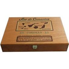 Flor de Canarias - Coronas 25 Puros Zigarren in Holzschatulle hergestellt auf Teneriffa - LAGERWARE