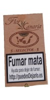 Flor de Canarias - 5 Selectos 5 Zigarren Holzschatulle hergestellt auf Teneriffa - LAGERWARE