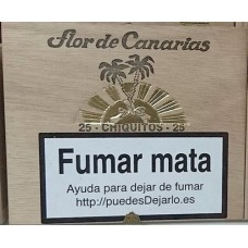 Flor de Canarias - Chiquitos 25 Zigarillos Holzschatulle hergestellt auf Teneriffa