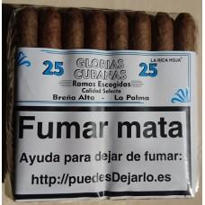 Glorias Cubanas - Ramas Escogidas Calidad Selecta 25 Zigarren hergestellt auf La Palma