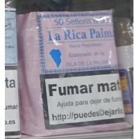 La Rica Palma - Senoritas 50 kanarische Zigarren hergestellt auf La Palma