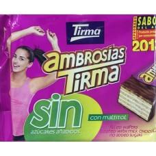 Tirma - Ambrosias Tradicional Chocolate sin Azucar zuckerfrei 10 Stück 215g hergestellt auf Gran Canaria