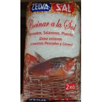 Zelva - Sal Cocinar al la Sal Salz grobe Körnung 2kg Tüte hergestellt auf Gran Canaria