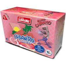 Bandama - Cubanitos Snacks Barquillo Relleno Waffeln mit Cremefüllung 8x 28g 224g hergestellt auf Gran Canaria - LAGERWARE