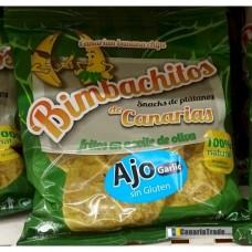 Bimbachitos de Canarias - Ajo Garlic Bananenchips mit Knoblauch 90g hergestellt auf El Hierro - LAGERWARE