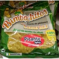 Bimbachitos de Canarias - Picante Spicy Bananenchips pikant 90g hergestellt auf El Hierro - LAGERWARE MHD: 30.11.2019