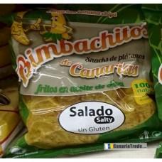 Bimbachitos de Canarias - Salado Salty Bananenchips leicht gesalzen 90g hergestellt auf El Hierro - LAGERWARE