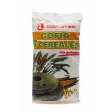 Comeztier - Gofio 3 Cereales con garbanzo 450g hergestellt auf Teneriffa - LAGERWARE