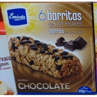 Emicela - 6 Barritas de cereales con Chocolate Müsliriegel 126g hergestellt auf Gran Canaria