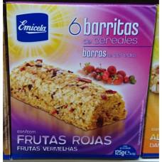 Emicela - 6 Barritas de cereales con Frutas Rojas Müsliriegel 125g hergestellt auf Gran Canaria