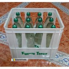 Fuenteror - Agua sin gas Mineralwasser mit Kohlensäure 1l x12 Glasflaschen Schraubverschluß Kasten hergestellt auf Gran Canaria