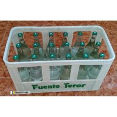 Fuenteror - Agua con gas Mineralwasser mit Kohlensäure Kasten 750ml x18 Glasflaschen Kronkorken Kasten hergestellt auf Gran Canaria