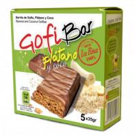 GofiBar - Platano y Coco Müsliriegel mit Gofio,Banane, Kokos 5x35g hergestellt auf Gran Canaria