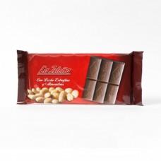 La Isleña - Chocolate con Leche extrafino y Almendras Vollmilchschokolade mit Mandeln 150g hergestellt auf Gran Canaria - LAGERWARE