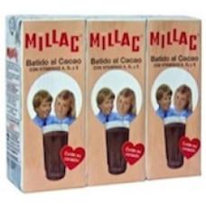 Millac - Leche Batida al Cacao Schokomilch 3er-Pack 3x 200ml hergestellt auf Gran Canaria