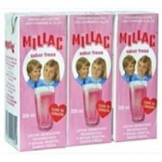 Millac - Leche Batida con Fresa Erdbeermilch 3er-Pack 3x 200ml hergestellt auf Gran Canaria