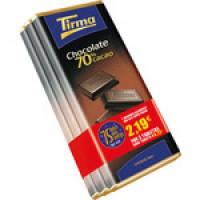 Tirma - Chocolate 70% Cacao Extra 2x 75g +1gratis 225g hergestellt auf Gran Canaria
