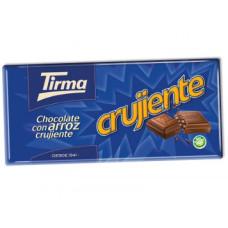 Tirma - Crujiente Choco con Arroz Tafel Vollmilchschokolade mit Reis 125g hergestellt auf Gran Canaria - LAGERWARE