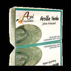 Valsabor - Jabon Artesanal de Arcilla Verde Seife Grüne Tonerde 100g hergestellt auf Gran Canaria